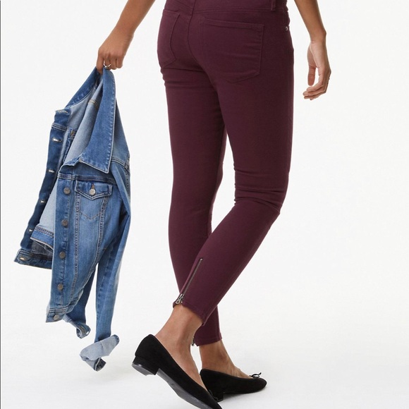 LOFT Denim - LOFT Burgundy Legging Jean Pants Size 30/10